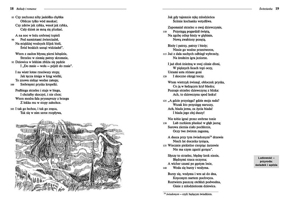 Ballady I Romanse Adam Mickiewicz Lektury Szkolne Z