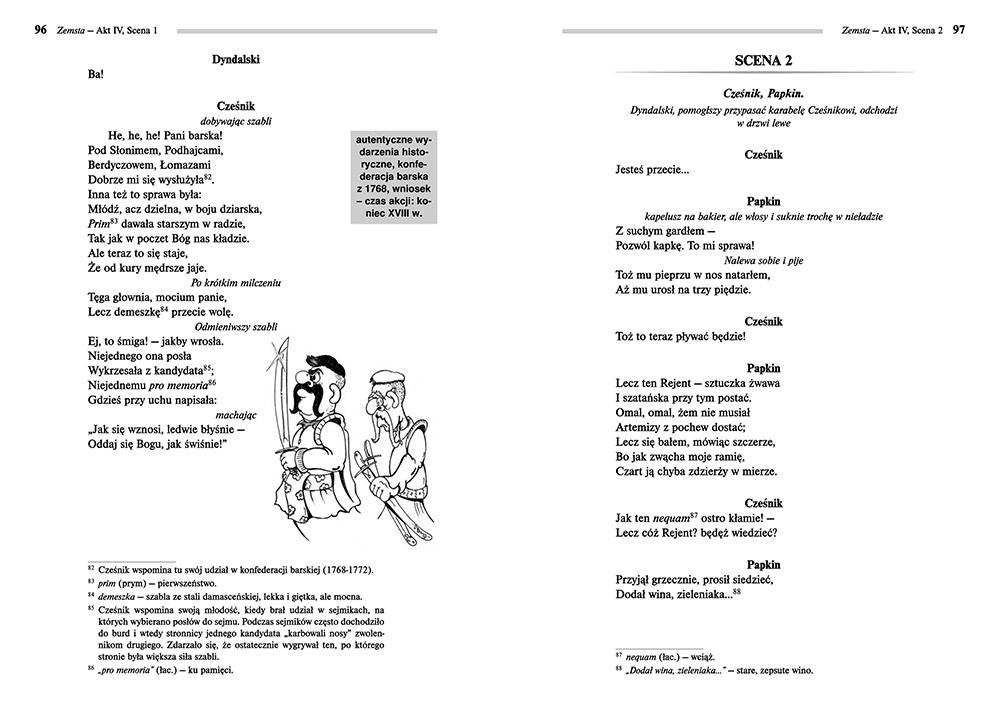 Zemsta - Aleksander Fredro | lektury szkolne z omówieniem - Wydawnictwo Greg