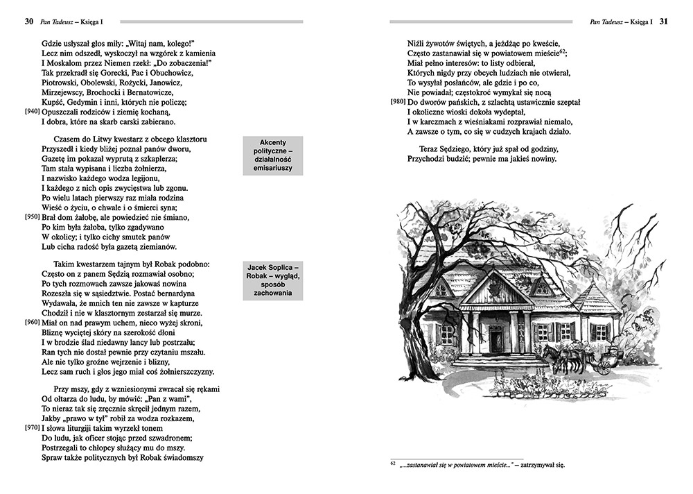 Pan Tadeusz Adam Mickiewicz Lektury Szkolne Z Omówieniem