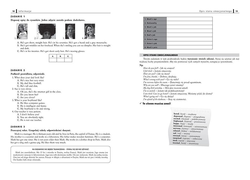 Czasowniki nieregularne angielski test klasa 6